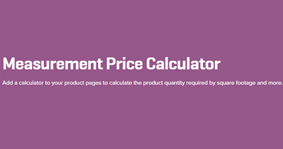 Measurement Price Calculator WooCommerce