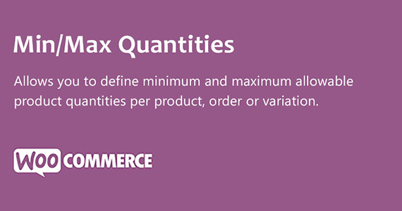 Min Max Quantities Woocommerce